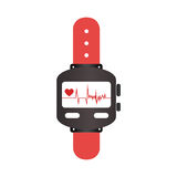 Colorful watch with screen Heartbeat monitoring Stock Image