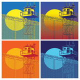 Colorful watchtower Royalty Free Stock Photos
