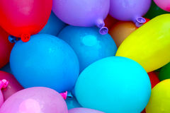 Colorful water balloons Royalty Free Stock Photos