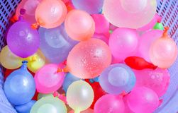 Colorful water balloons Stock Images