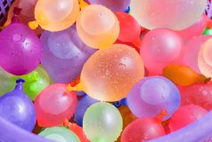 Colorful water balloons Royalty Free Stock Photography