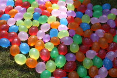 Colorful water balloons Stock Photography