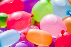 Colorful Water Bombs In Summer Stock Photography