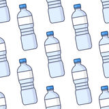 Colorful Water Bottles Seamless Pattern Royalty Free Stock Images