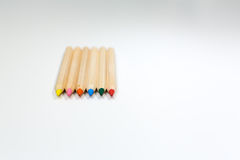 Colorful water color pencils Stock Photography