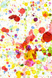 Colorful water color splash background Royalty Free Stock Photos