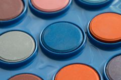Colorful Water Colours In A Set stock image