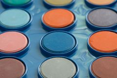 Colorful Water Colours In A Set stock images