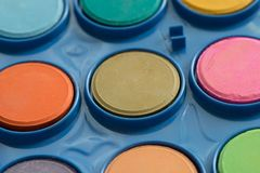 Colorful Water Colours In A Set royalty free stock images