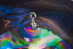 Colorful Water drop. Close up Royalty Free Stock Image