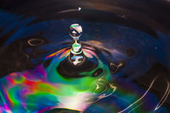 Colorful Water drop. Close up Stock Images