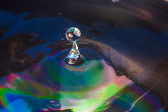 Colorful Water drop. Close up Royalty Free Stock Photo