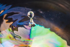 Colorful Water drop Royalty Free Stock Photo