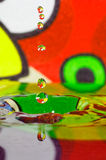 Colorful Water Drop. Close up of colorful water drop made of splashing water Stock Photo