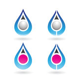 Colorful Water Drop and Earring Shape Royalty Free Stock Image
