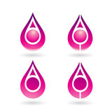 Colorful Water Drop and Earring Shape Stock Image