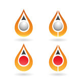 Colorful Water Drop and Earring Shape Royalty Free Stock Photo