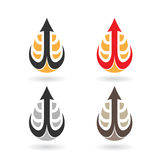 Colorful Water Drop and Earring Shape Royalty Free Stock Images