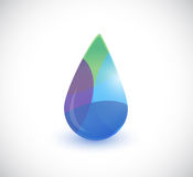 Colorful water drop illustration design Stock Photos
