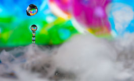 Colorful Water Drop Sculptures Stock Photo