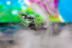 Colorful Water Drop Sculptures Stock Photography