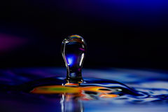 Colorful Water Drop Sculptures Royalty Free Stock Photos