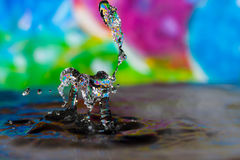 Colorful Water Drop Sculptures Royalty Free Stock Photography