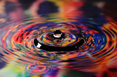 Colorful water droplet Stock Images