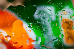 Colorful water droplets Royalty Free Stock Image