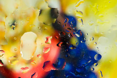 Colorful water droplets Royalty Free Stock Photo