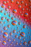 Colorful water drops Royalty Free Stock Photos