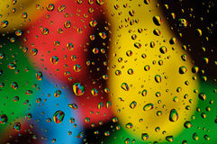 Colorful water drops Royalty Free Stock Images