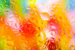 Colorful water drops. For a background Stock Photography