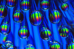 Colorful water drops background Stock Photography