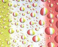 Colorful water drops. Many colorful water drops on even surface Royalty Free Stock Image