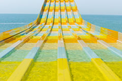 Colorful water feature slide Royalty Free Stock Image