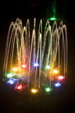 Colorful Water Fountain royalty free stock photos