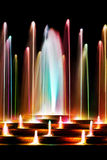 Colorful water fountain Royalty Free Stock Photo