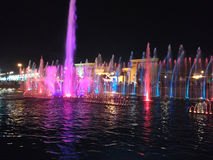 Colorful water fountain Stock Photography