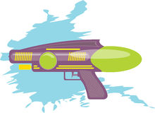 Colorful water gun kids toy. Cartoon illustration vector illustration