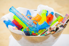 Colorful of Water Gun Royalty Free Stock Image
