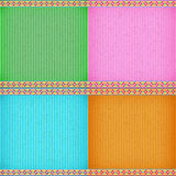 Colorful water lily card board texture Stock Images