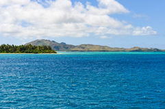 Colorful water near Nacula Island in Fiji Stock Images
