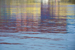 Colorful water reflections Royalty Free Stock Photography