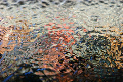 Colorful water ripples Stock Photography