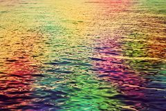 Colorful water ripples in the sea. Abstract hd background Royalty Free Stock Photo