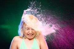 Colorful water shower Royalty Free Stock Photography