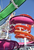 Colorful water slide Royalty Free Stock Image