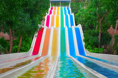 Colorful water slides Royalty Free Stock Photo