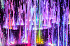 Colorful water sparklings Stock Photo